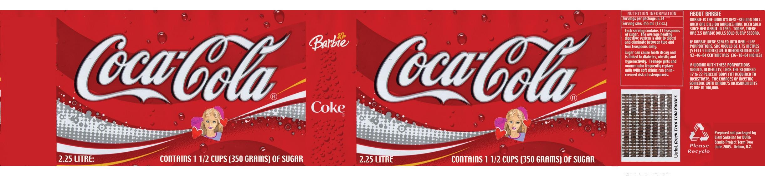 barbie in coke bottle label