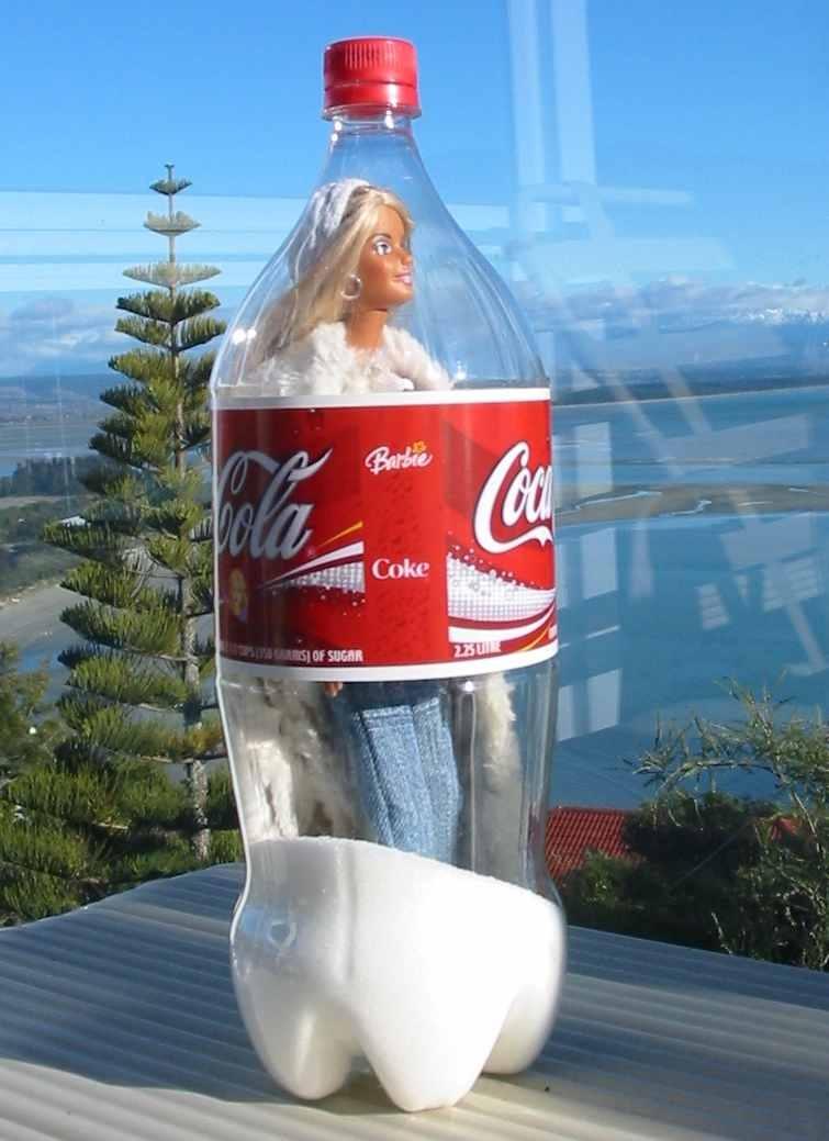 barbie in coke bottle